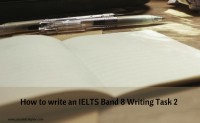 How to write an IELTS band 8 Task 2